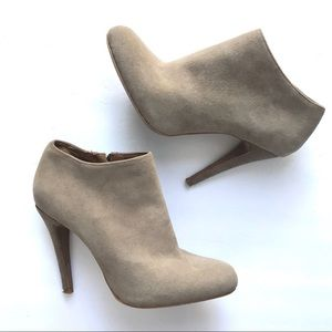 Aldo Suede Zippered Ankle Booties